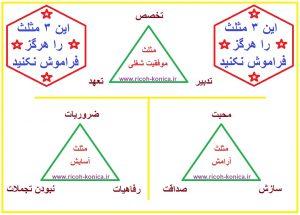مثلت موفقیت شغلی مثلث آسایش مثلث آرامش